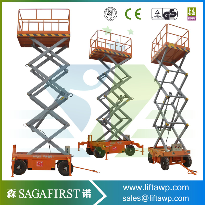Full Electric Hydraulic Scissor Platform Lift 10m