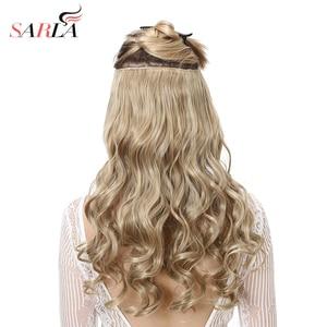 Image 1 - SARLA 10 יח\חבילה ברזילאי 5 קליפים בתוספות שיער עמוק גל ארוך סינטטי פאה טמפרטורה גבוהה 888 משלוח חינם