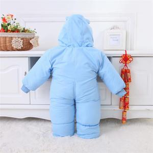 Image 2 - Baby Clothes Winter Autumn Style Newborn Baby Rompers New Cotton padded Baby Boys Girls Jumpsuits Cartoon Infant Overalls