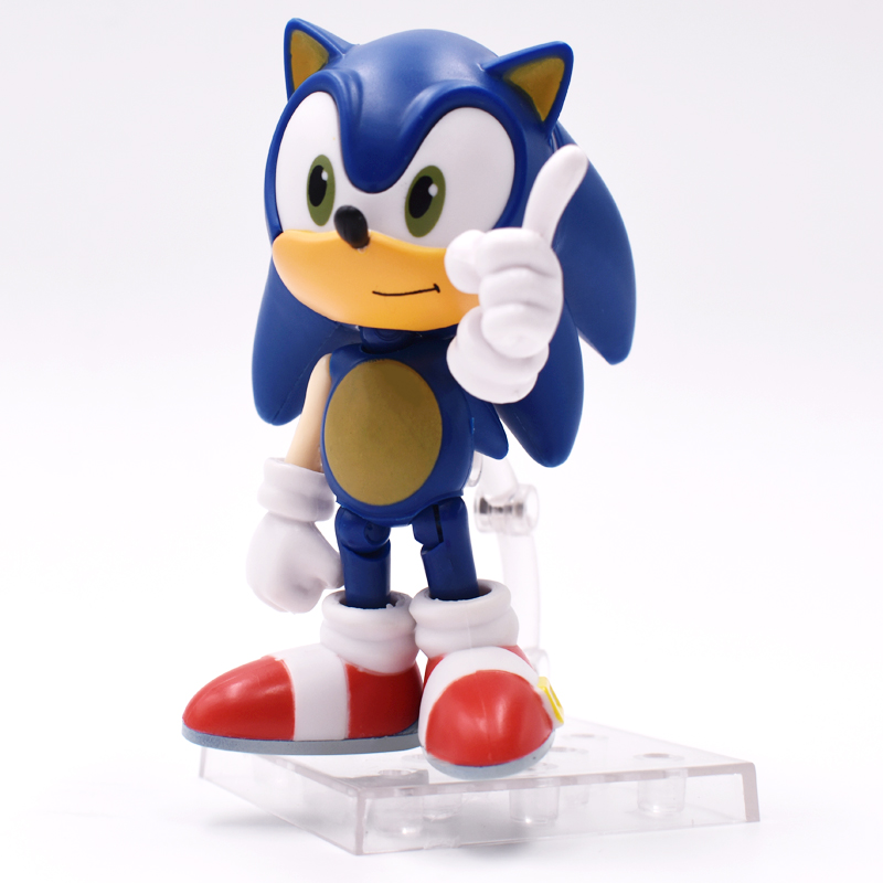 10cm Sonic Action Figures Changeable Models PVC Q Version Nendoroid Children Toys Gifts Collections Free Shipping