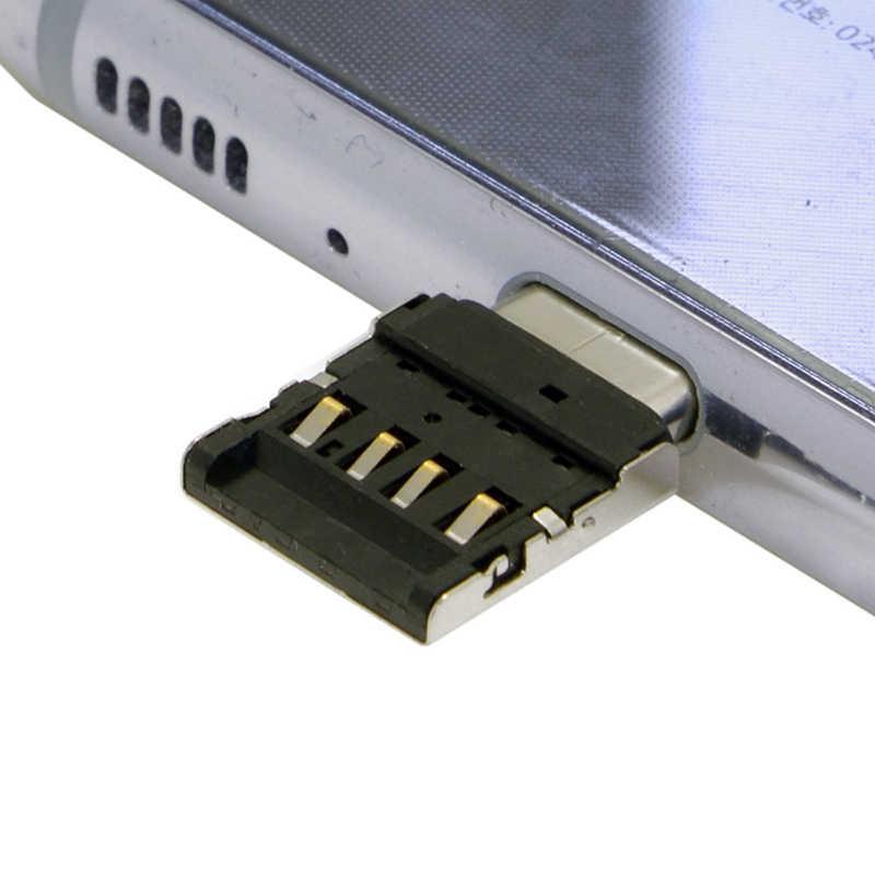 Portfeuille 5 قطعة OTG Type-c محول لسامسونج غالاكسي S8 زائد نوت 8 Oneplus 5T نوع C جهاز لوحي، هاتف خلوي كابل يو اس بي فلاش حملة