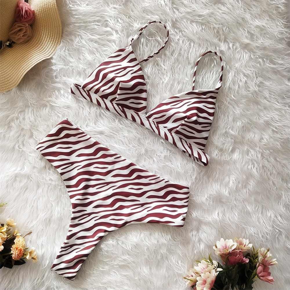 2019 mayo kadınlar için hamile mayo seksi Bikini yılan leopar Zebra baskı mayo Push-Up yastıklı S/M/XL # 20z