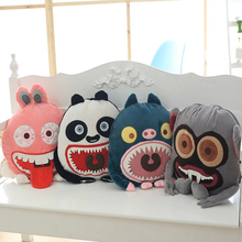 2016 creative cartoon monster air conditioning blanket, pillow cushions dual office nap blanket, free shipping!