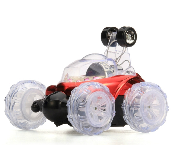 rc 360 degree stunt cars for kids crazy dump rc car with led lights music 18cm