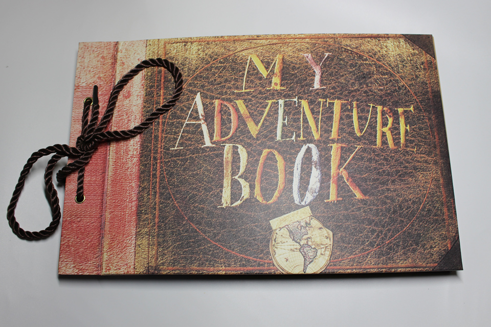 My Adventure Book Printable Cover ~ Handmade photo album baby my our adventure book wedding
