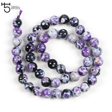 8mm Natural purple Stone Beads for jewelry making Bracelet Diy Necklace women loose spacer beads wholesale S701