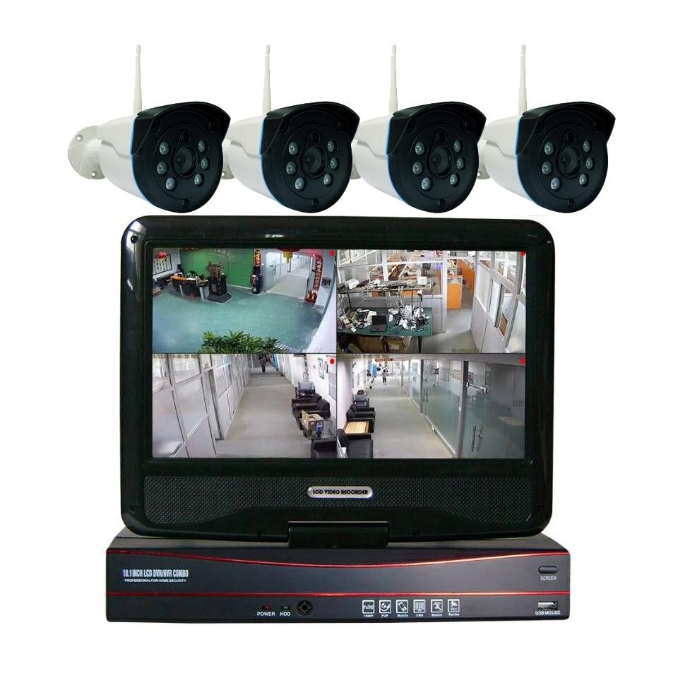 4CH Wireless NVR  Kit 960P 1.3MP WIFI CCTV System Six IR Outdoor P2P With 4PCS IP Camera 4CH Wireless NVR  Kit 960P 1.3MP WIFI CCTV System Six IR Outdoor P2P With 4PCS IP Camera