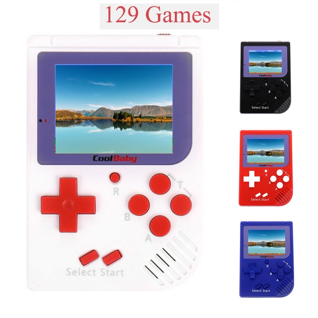 Coolbaby RS-6 Portable Retro Mini Handheld Game Console 8 bit 2.0 inch LCD Color Colour Children Game Player Built-in 129 Games