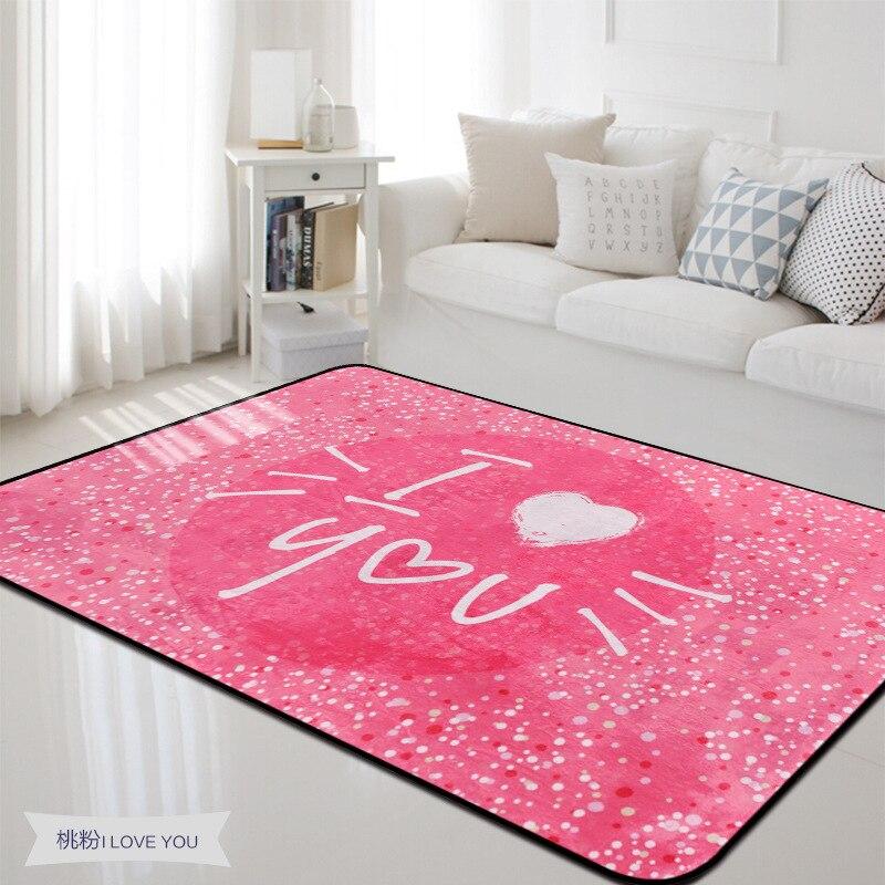 Belle douce je t'aime tapis pour salon romantique tapis pour chambre tapis doux enfants chambre décoration de mariage tapis