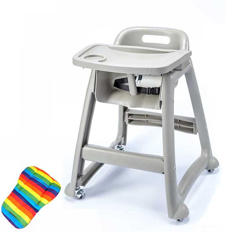 Fiat Rabbit PP plastic Chidlren Highchair For Dinning Chair baby high chair with adjustable remove tray and mat CE Was Approved