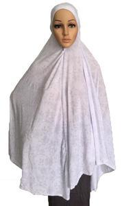 Image 4 - Kadınlar için müslüman namaz elbise uzun eşarp Khimar başörtüsü İslam büyük havai elbise namaz konfeksiyon şapka Niquabs baskılı Amira hicap