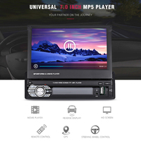 7.0 inch TFT LCD Screen Retractable Car MP5 Players Bluetooth Car Multimedia Player FM Auto Radio GPS European Map Reversing
