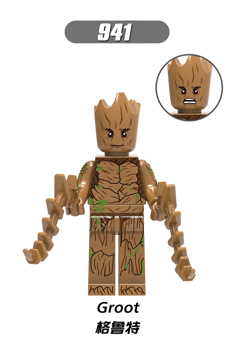 Marvel Super Heroes Treeman Groot  Mini Figure Avengers Infinity War Fit lego