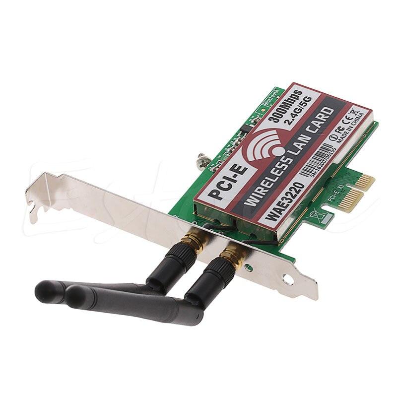 2018 High Quality 300M Desktop Dual Band LAN Wifi Wireless PCI-e PCI Card Wlan Adapter 2dBi Antenna Wifi Network Card high quality dialogic d300jcte175wcn d300jct e1 pci 30