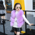 Children's fur vest imitation fox fur coat girls fall and winter new small and medium-sized vest waistcoat baby coat