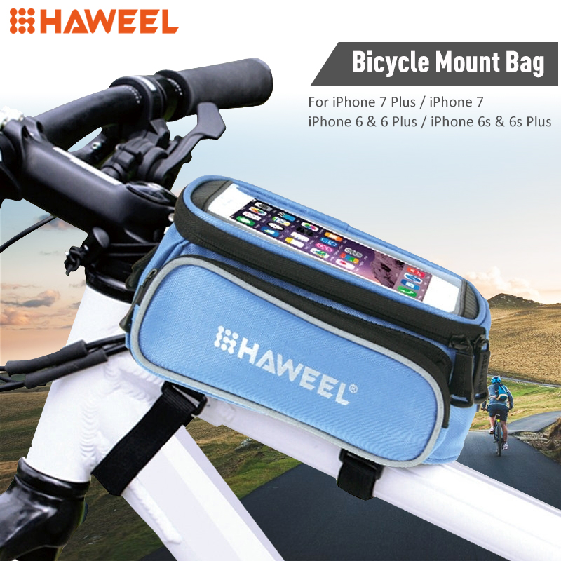 HAWEEL Bicycle Double Frame Touch Screen Phone Bag for iPhone 7 Plus & 7 / iPhone 6 & 6 Plus / iPhone 6s & 6s Plus