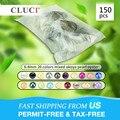 CLUCI 150 stuks 6-8mm Mix 20 Kleuren Natuurlijke Ronde Akoya Parels Zoutwater Kralen Vacuüm Verpakt Oesters met parels
