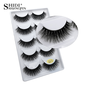 Image 5 - LANJINGLIN 50 boxes / lot mink eyelashes natural long false eyelashes 100% handmade soft 3d mink lashes makeup faux cils G800
