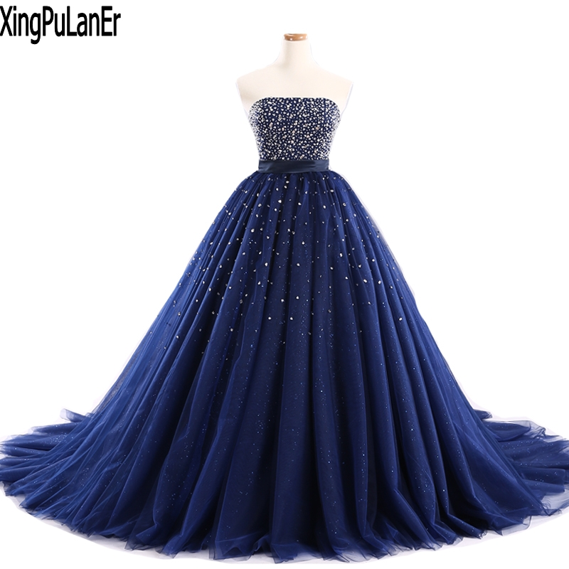 Navy Blue and Silver Prom Dresses
