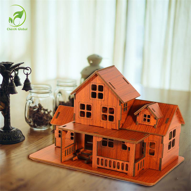 Bon Creative DIY Wooden House Model To Be Assembled Ornaments Home Decorations  Art Crafts Bamboo Wood Furniture