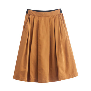 Image 4 - INMAN Women Spring Autumn Contrast Color Elegant Lady Nice Middle Skirt