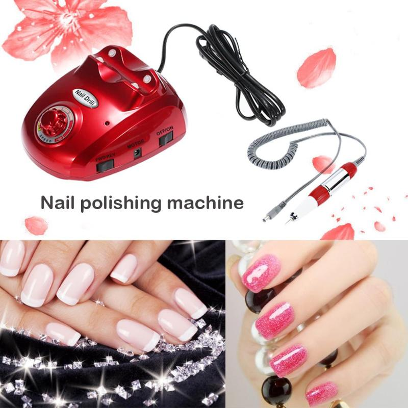 30000RPM Professional Electric Nail Drill Machine Widely Manicure Drills Accessory Pedicure Kit Nail Drill File Bit Nail Tools cnc part mr9 9mm linear rail guide mgn9 length 550mm with mini mgn9h linear block carriage miniature linear motion guide way