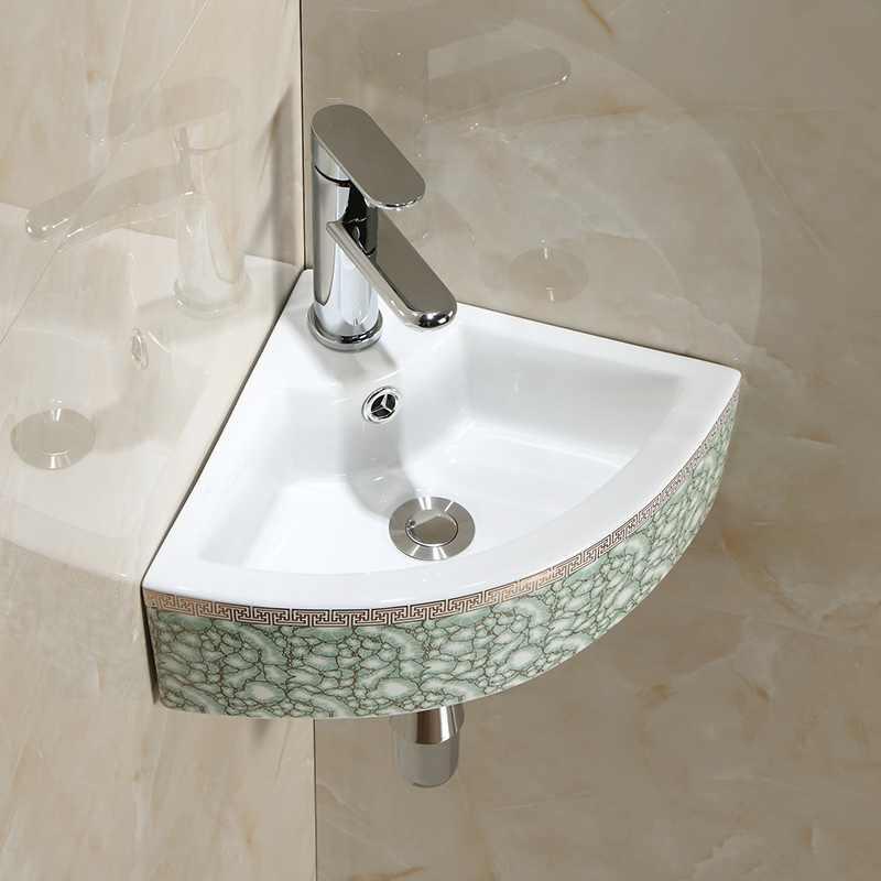 Lavabo D Angle En Ceramique Petit Meuble De Salle De Bain Triangulaire Balcon Mural Lavabo Pour Appartement Lx11191408 Aliexpress