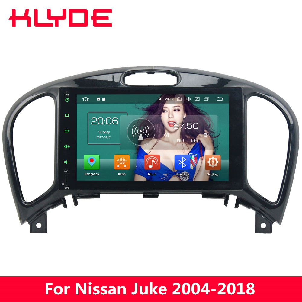 KLYDE 4G Android 8 Octa Core 4GB+32GB Car DVD Player Radio For Nissan Juke 2004 2005 2006 2007 2008 2009 2010 2011 2012 2013-18