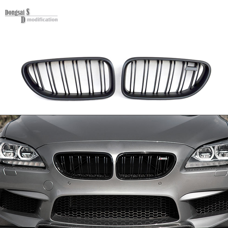 6 series f06 gran coupe M style dual slat front bumper mesh replacement grill racing ABS grille for bmw f12 f13 2012 + 650i m emblem style 3 color replacement front bumper grill for 2009 2016 bmw z4 e89 coupe cabriolet 20i 23i 28i 30i 30i 35i 35is