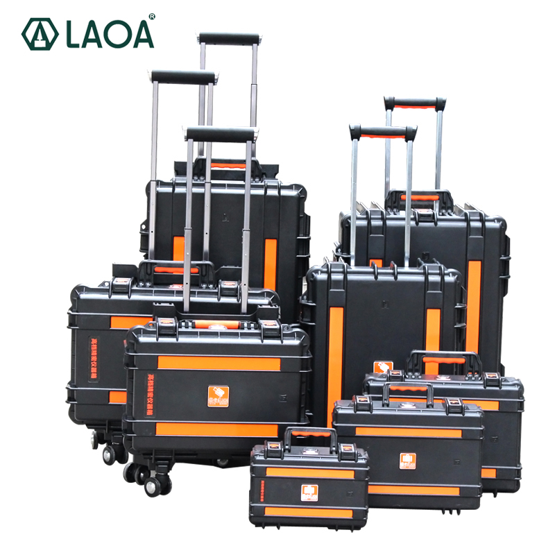 LAOA Strengthen Impacted Resistance and Water Proof Portable Tool Box Instrument Trolley Fix Wheel Case