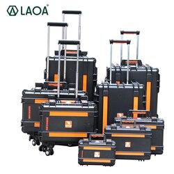 LAOA تعزيز أثرت المقاومة و المياه واقية حقيبة أدوات ألومنيوم محمولة مربع أداة عربة الإصلاح عجلة حالة