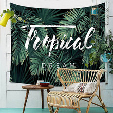 home decor large wall hanging blanket art tapestry bohemian boho indian plant forest leaves flamingo Carpet 200x150cm