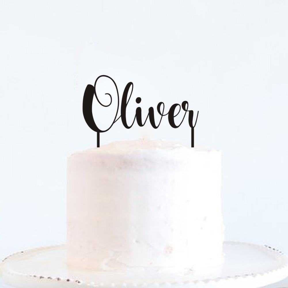 Personalized Name Happy Birthday Cake Topper Party Supplies Baby Shower Kids Custom Acrylic