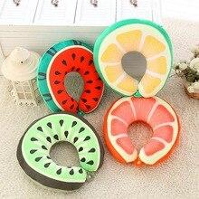 Creative plush toys printed fruit U pillow baby  simulation neck NTDIZ0114