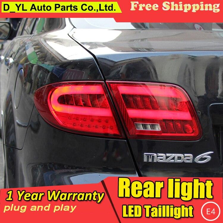 D YL Car Styling for    Mazda 6    LED Taillights    2003    2013    Mazda6       Tail    Lamp Rear Lamp DRLBrakePark