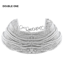 2018 Women's Wide Neck Rhinestone Choker Necklace Big sparkly choker Fashion jewelry Trendy Chocker