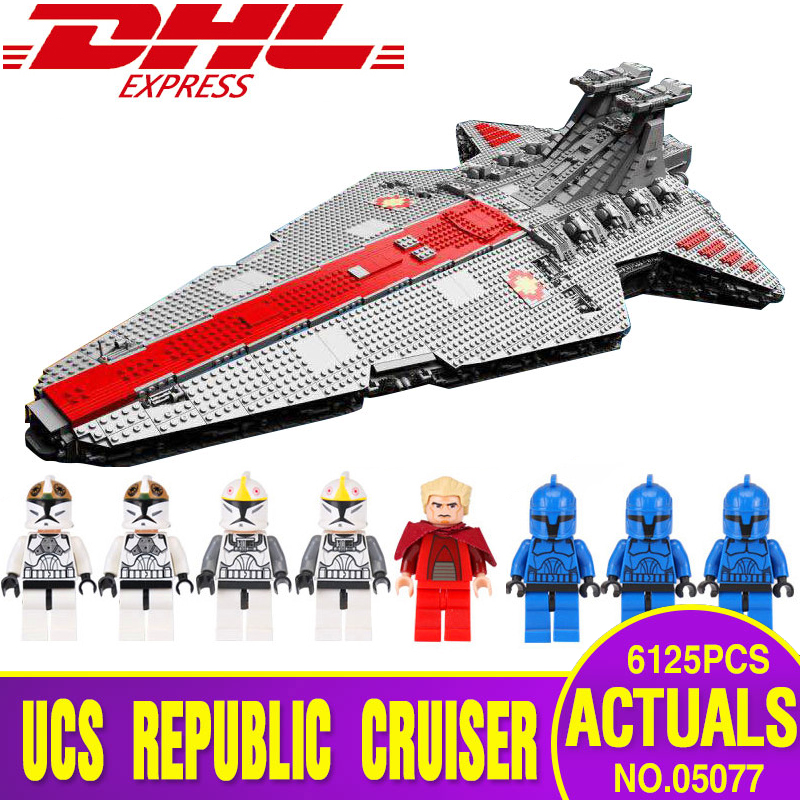 DHL 05077 05132 Star Plan Wars Classic The Ucs ST04 Set Republic Cruiser Educational Building Blocks