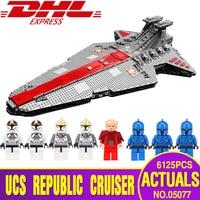 Lepin 05077 05132 Star Plan Wars Classic The Ucs ST04 Set Republic Cruiser Educational Building Blocks Bricks Toy Legoingly Gift