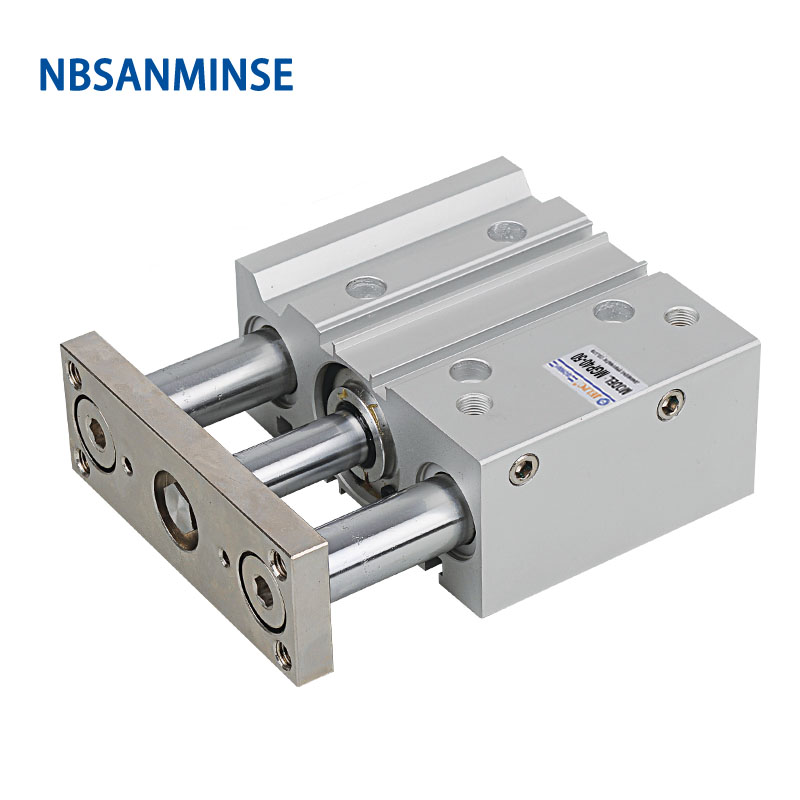 NBSANMINSE MGPL 50mm Compact Guide Cylinder Double Acting Compressed Air Cylinder Automation Parts in Pneumatic Parts from Home Improvement