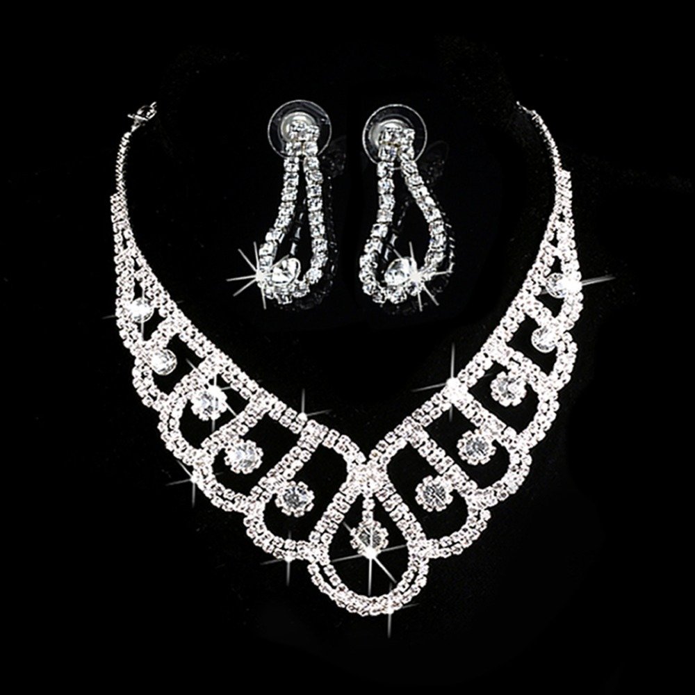 Aliexpress Com Buy New Fashion Necklace Earrings Bridal