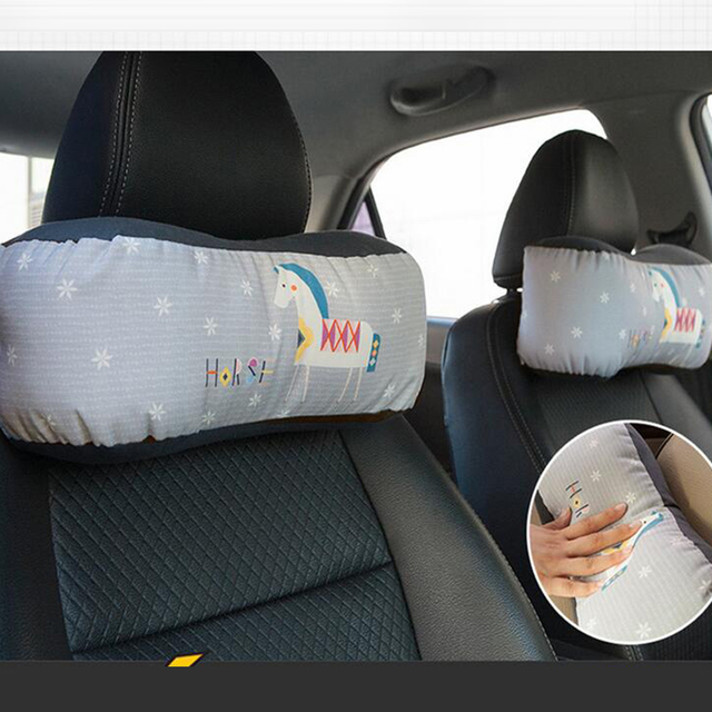 2PCS Four Seasons General Motors Cartoon Neck Protection Pillow