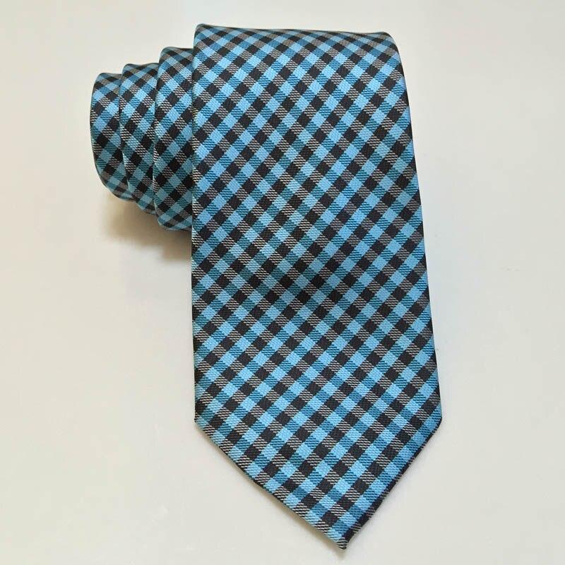Plaid Tie Brand Business Wedding Men Ties Green Black Grid Neckties For Suit Shirt Party Gravatas 8cm Fashion Mens Accessories