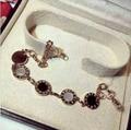High quality black and white shell five circle brand female Bracelet European and American fashion Rome digital Bracelet