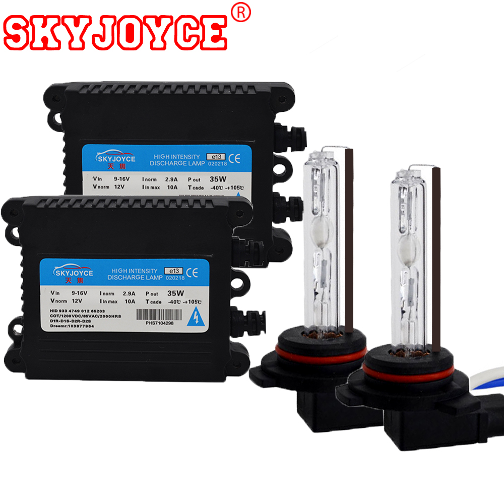 SKYJOYCE hid headlight bulb lamp HIR2 9012 bulbs with 35W 12V hid ballast hid for 9012 bixenon projector bulb kit 9012 hid xenon