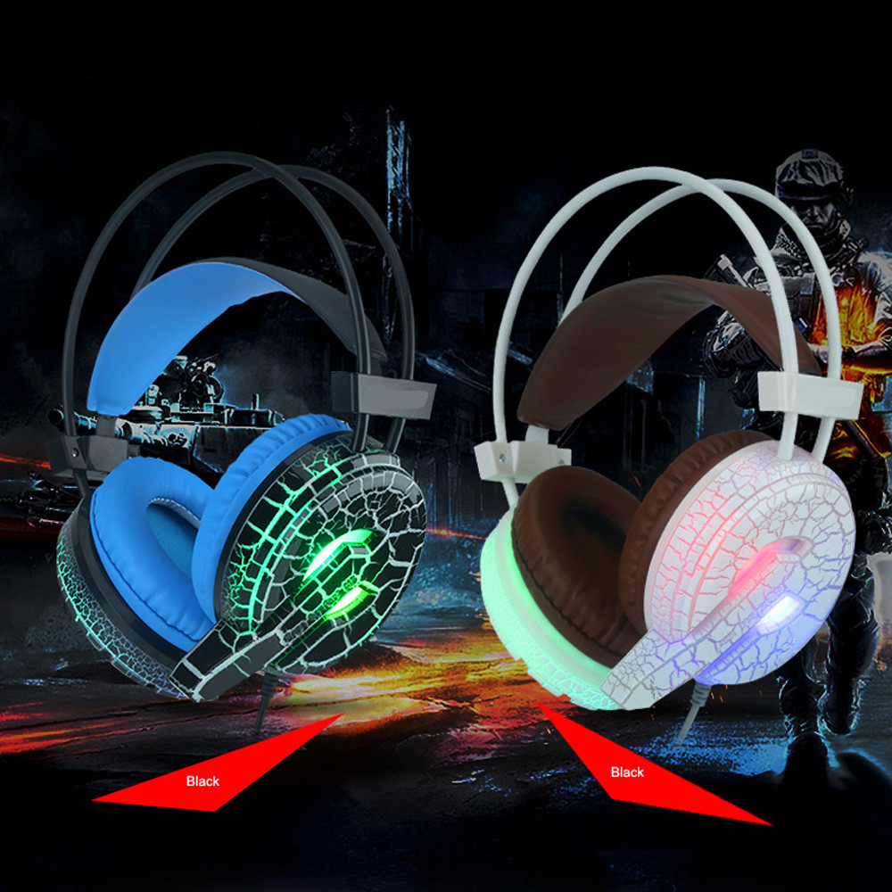 Professional Gaming Headset LED Light Earphone Headphone with Microphone H6 Fashion 17Sept27