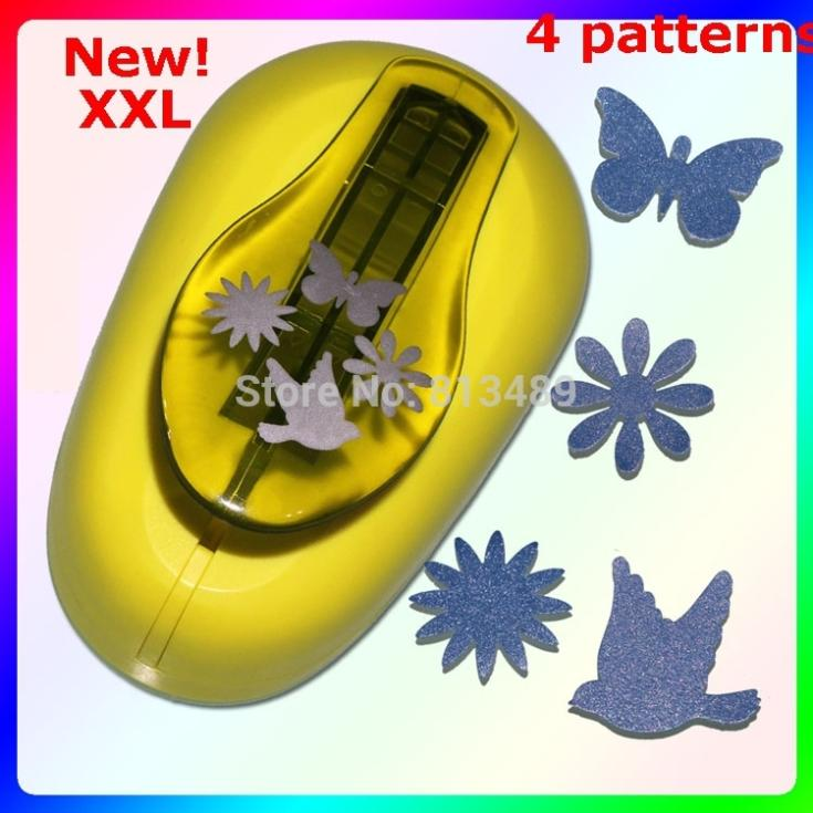 4-patterns Extra Large Butterfly Paper Punch Scrapbooking Paper Creative Craft Hole Punch Embossing