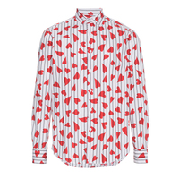 2018 Autumn New Brand Women Blouses Long Sleeve Shirt Fashion Casual Striped Love Heart Printed Female Streetwear Plus Size Tops