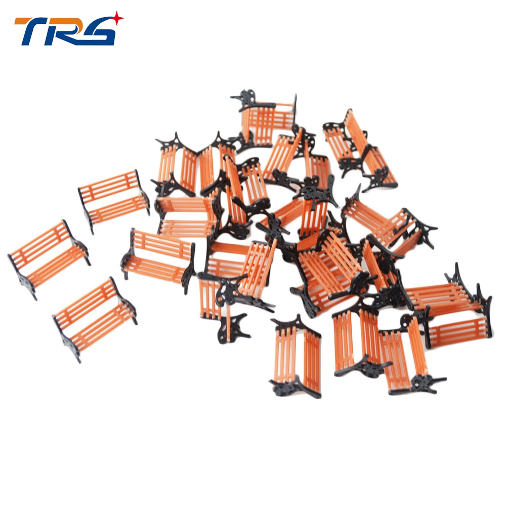wholesale 100pcs 1 30 scale sand table model building train bench chair in the park for