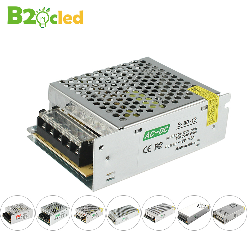Éclairage Transformateur 2A 3A 5A 8A 13A 17A 20A 33A 110 v 220 v à 12 v LED pilote commutateur adaptateur d'alimentation pour LED bande 60 w 100 w
