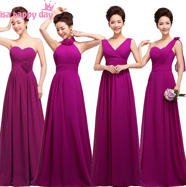 4 design dark purple eggplant lace up fancy   bridesmaid     dress   sister of the bride formal teen   dresses   from china for weddings